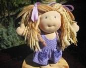 """RESERVED Custom Waldorf Girl Doll for Melissa - 10"""" Girl"""