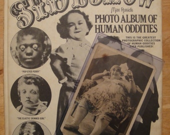 Vintage Sideshow Book by Max Rusid + Fat Lady photograph/postcard