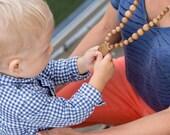 FLASH SALE All Wooden Breastfeeding Necklace - oak wood