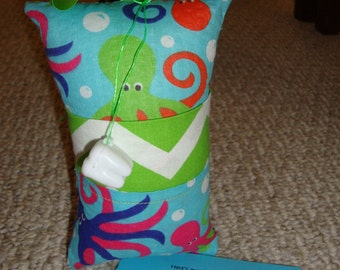 Tooth Fairy Pillow with tooth holder: Octopus
