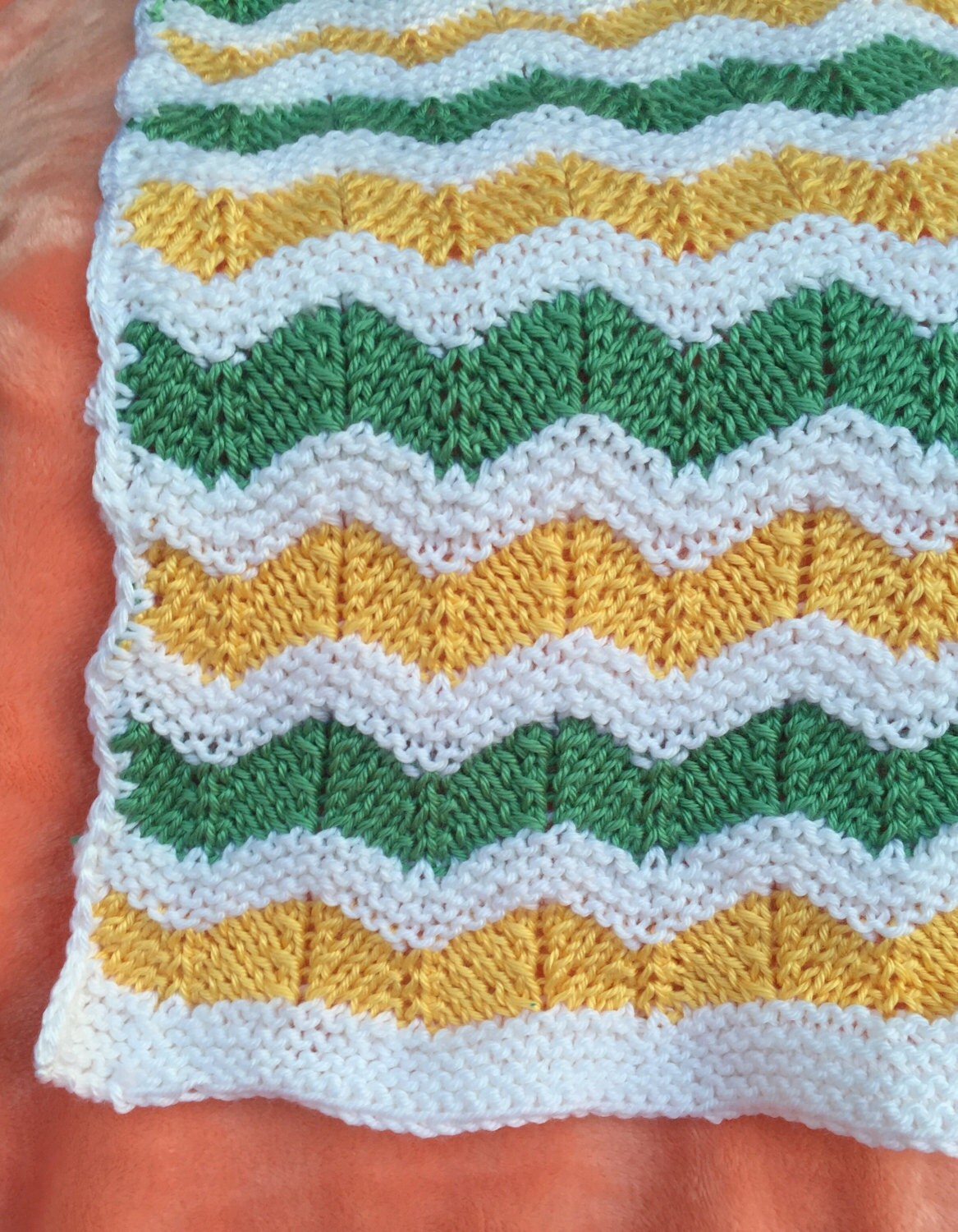 knitted ripple pattern baby blanket - 28 images - miracles happen ...