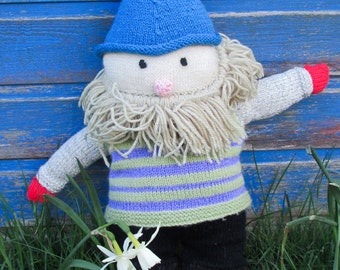 Large Knitted Gnome - Woodland/Forest Folk/Fairy Land/Little People