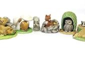 Woodland Surprises Porcelain Raccoon Squirrel Fox Owl Bear Field Mouse