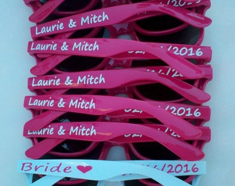 Personalized Sunglasses - Cheer - Cheerleader - Nationals - Sports - Teams - Fun, Bachelorette, Wedding, Bride, Groom