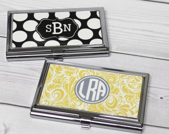 Personalized business card holder monogrammed business card personalized business card holder monogram business card case personalized gift coworker gift colourmoves
