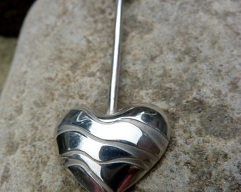 Silver Heart Pendant Necklace