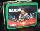 Rambo Metal Lunchbox 1985 with Thermos
