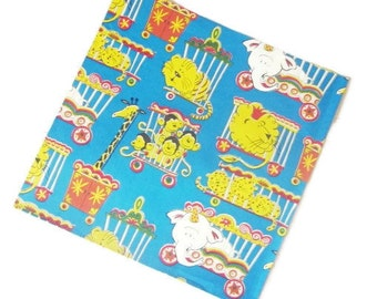 Vintage Wrapping Paper - Circus Animals Gift Wrap - One Full Unused Sheet