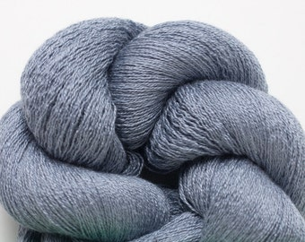 Blue Fog Silk Cotton Cashmere Fine Lace Weight Recycled Yarn, 4460 Yards Available