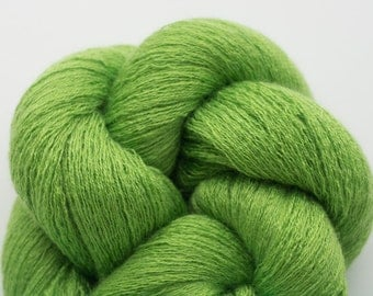 Harlequin Green Silk Cashmere Cobweb Weight Recycled Yarn