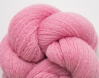 Lace Weight Recycled Cashmere Yarn, Pink Recycled Lace Weight Cashmere Yarn