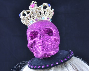 Skull and Crown Fascinator