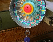 Upcycled Ornament - Circles (Color) - Cookie Cutter Ornament - Hanging Decor by Jen Hardwick