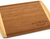 """Totally Bamboo Kona Engraved Cutting Board 18"""" x 12"""" Groove Flat Grain Cupid Design - Engraved Wedding Gift, Couples Gift, Anniversary Gift"""