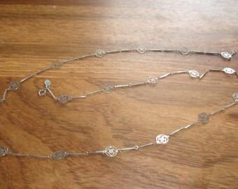 vintage necklace silvertone avon