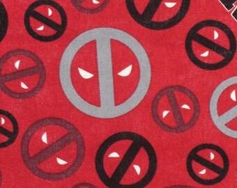 Deadpool Fabric, Marvel Deadpool, Deadpool Heads, Deadpool Icons, Cotton fabric, By the Yard