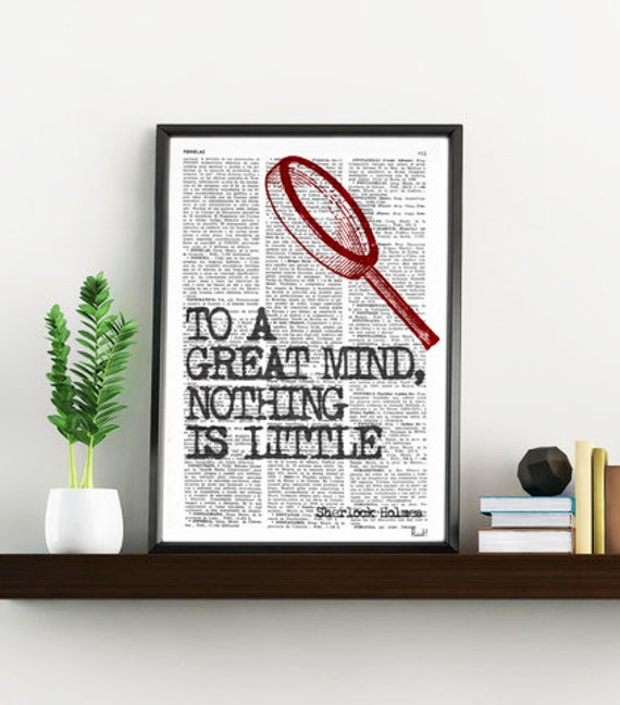 Wall art smart Quote Print, Sherlock holmes fan, Wall Decor, College Dorm Sherlock Poster print - Bedroom wall art- Geek Poster print BPTQ09
