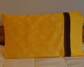Cheetah Print in Yellow - Standard Pillowcase Pair