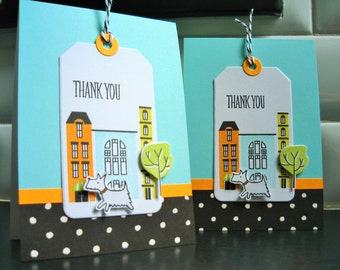 Westie Thank You Cards Set of 3, Dog Stationery, Dog Lover Cards, Pet Sitter Cards
