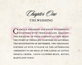 Love Story Wedding Invitation - Reserved Listing for cabramson4 (75 count)