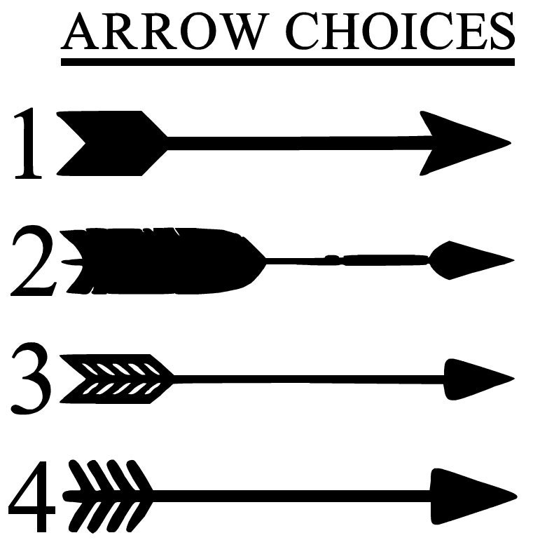 Arrow Name Vinyl Decal Personalized Vinyl Name Decal