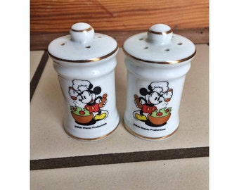 Vintage Disney Mickey Mouse Salt and Pepper Shakers