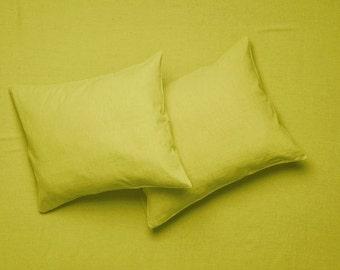 Mustard linen bedding set, Linen sheet set Flat, fitted sheets & pillowcases. Linen bedding Queen, Linen sheets King Twin Full Double