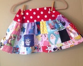 Everything Disney 5t, 6, 6x, 7 wirl skirt  -ready to ship - Tinkerbell, Princess, Minnie -