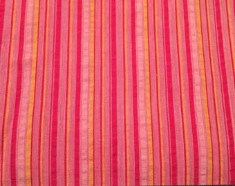 Pink and Yellow Stripe Cotton, 45in wide, 1yrds