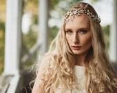 Asymmetrical Garden Crystal and Flower Crown