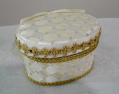 Wedding Ring Bearer Box Pillow Ivory Gold with Swarovski Crystals or Pearls, Wedding Accessories, Custom Made to Order