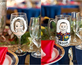 Custom Painted Glasses, Hand-Painted Beer Steins, Wine Glasses, and More