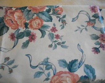 Cabbage Rose Floral Fabric