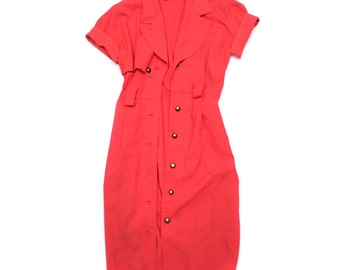 Short Sleeve Red Trench - Size M