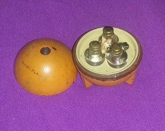 Vintage Vanity Miami Florida Commercial Perfume Scent Bottle Set Rare Art Deco Orange Blossom estate