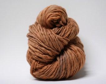 Thick Thin Merino Yarn Slub Yarn TTS tts(tm) 33tts4X16004 Saddle Brown