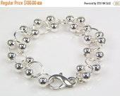 SALE Sterling Silver Ball Bracelet - BSK Designs - Fine Jewelry