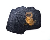 Vintage Couroc of Monterey Owl Coasters