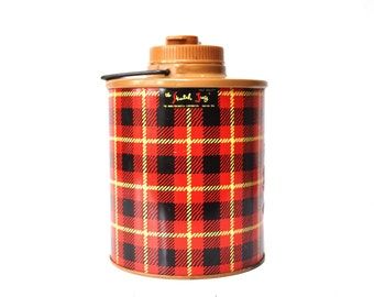 Vintage Tartan Plaid Skotch Water Jug - Half Gallon