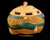 Surf Line Gourd Art Bowl