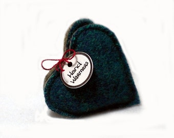 Pocket Hand Warmers Wool Blue Green Taupe HEARTS Eco Gift Rice Bag Handwarmers