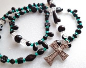 Rosary in Black and Green
