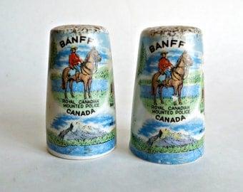 Salt and Pepper Vintage Banff Canada Royal Canadian Mounted Police