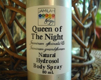 Hydrosol - Queen of The Night Body Spray - Natural Jasmine Flowers, Seductive, Loving, Evocative, Sweet Aroma, Body Spray, High Vibration