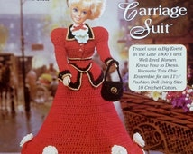 20%OFF The Needlecraft Shop LESLIE'S Carriage Suit Ladies of Fashion By Inez Collins Scott - Fashion Doll Crochet Pattern