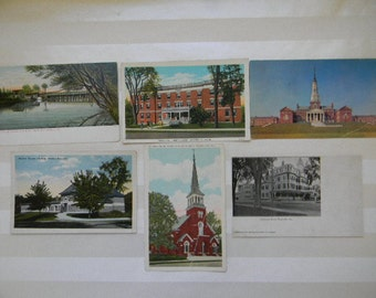 Maine Postcards, (6) Vintage WATERVILLE MAINE  Postcards