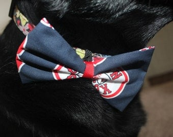 Boston Red Sox Dog Bow/Bow Tie Accessory