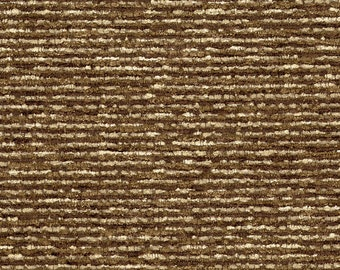 Classic Soft Textured Chenille Upholstery Fabric - Mixed tones - Soft seat - Durable - Duty Free Canada-  Color: Jinga Cocoa - per yard