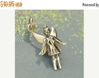 Prepare for Mothers Day Fairy Charm - Sterling Silver Realistic Fairy Charm - Fairy Tale, Vacation, Disneyland, Fantasy Charm, Little Girl G
