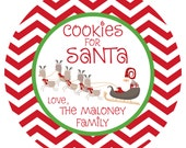 Cookies for Santa Plate - Personalized Melamine Plate - Personalized Christmas Plate